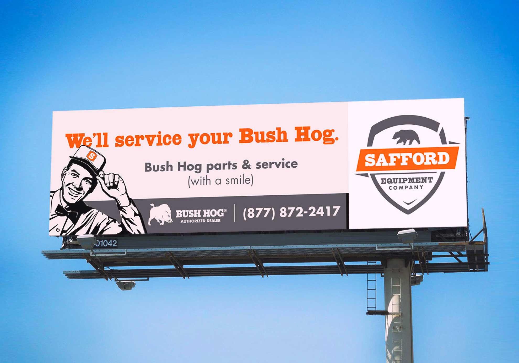 Safford Equipment billboard
