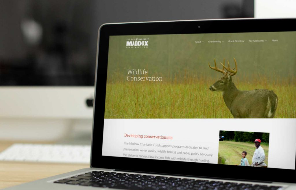Maddox Charitable Fund website by Loyal Brand Company