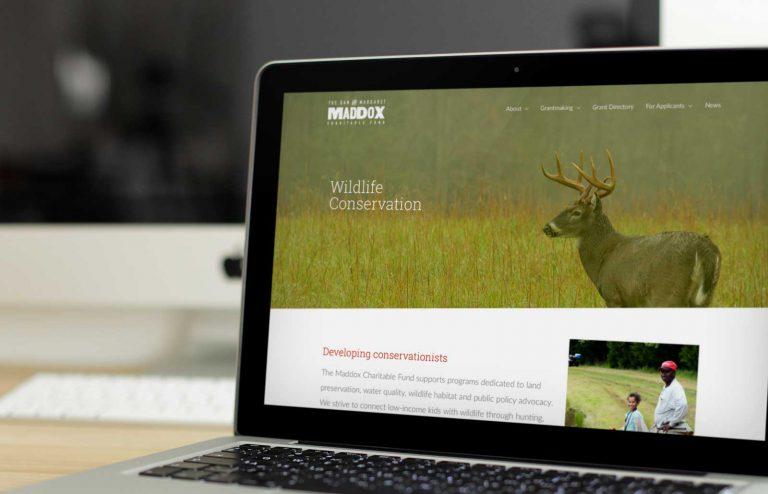 Maddox Charitable Fund website by Loyal Brand Company