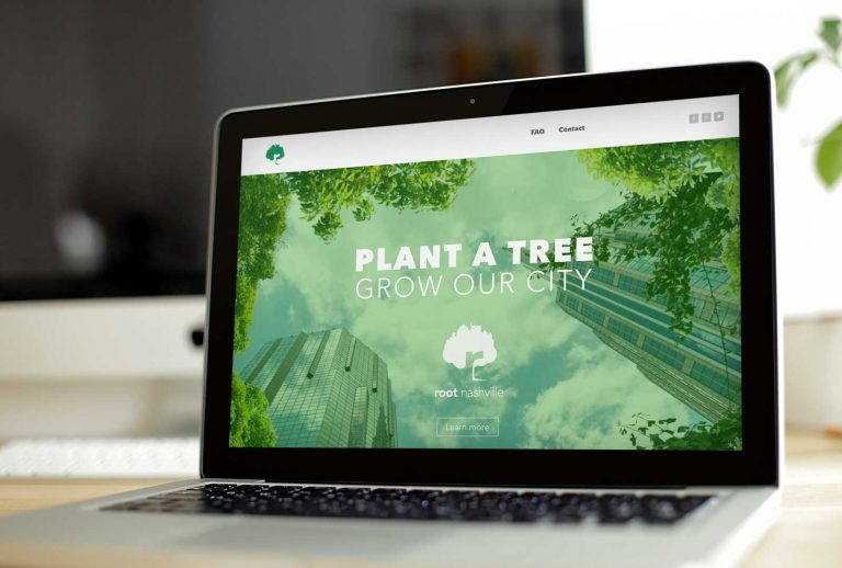 Root Nashville website by Loyal Brand Company