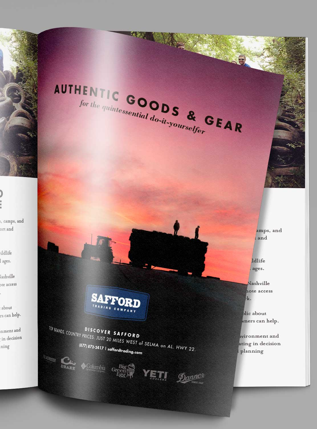 Safford Trading full page magazine ad