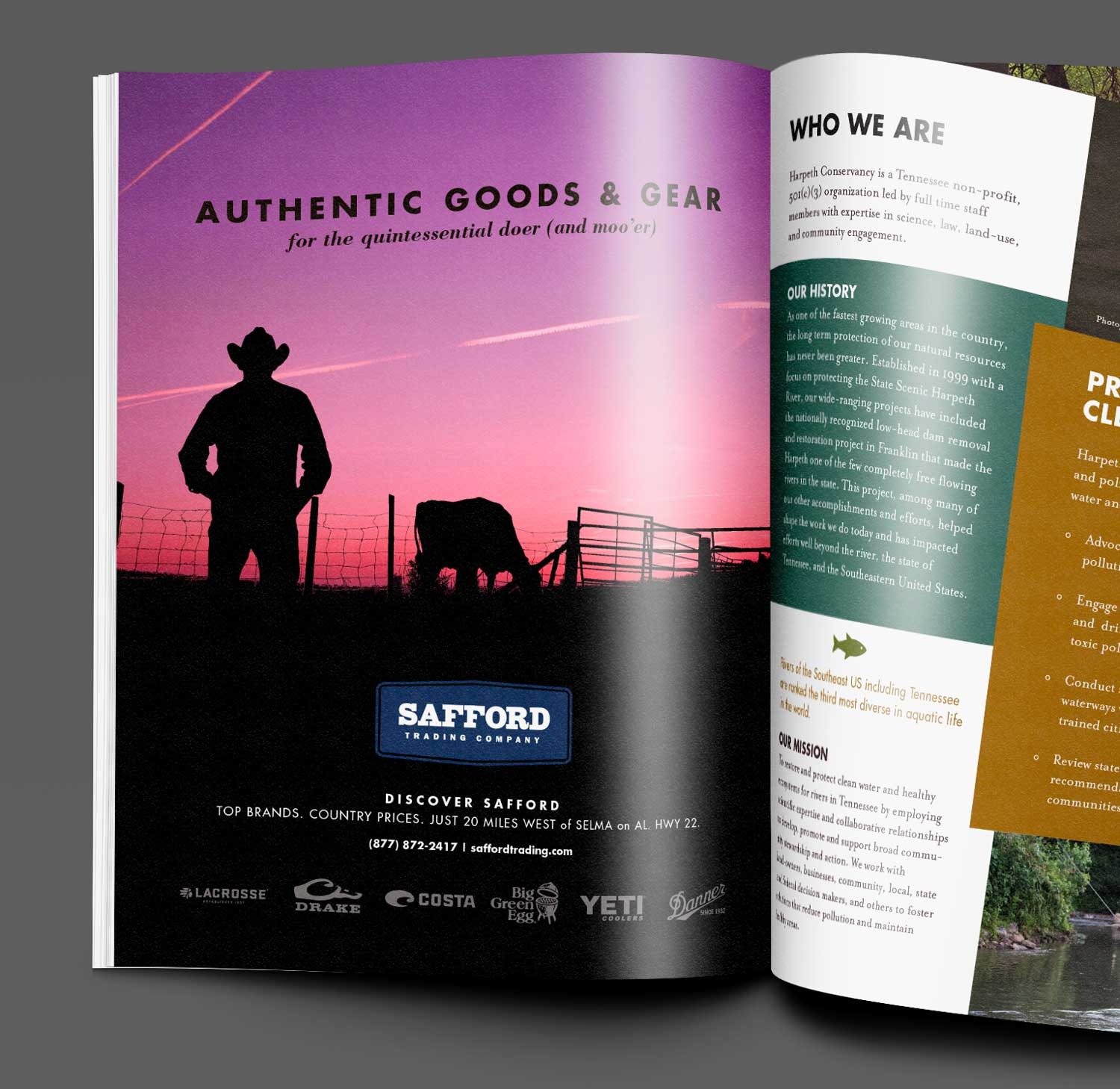 Safford Trading magazine ad by Loyal Brand Company